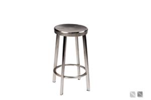 """Tabouret design en acier poli """"Indianapolis"""" par Esprit Loft"""