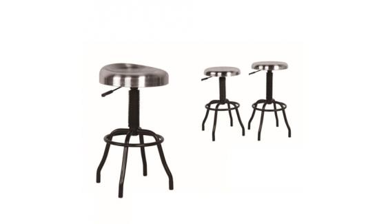tabouret industriel seoul esprit. Black Bedroom Furniture Sets. Home Design Ideas